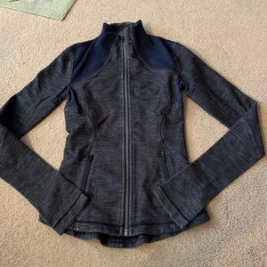 "Lululemon Blue ""Denim"" Fitted Long Sleeve Jacket"